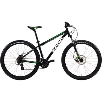 Kona Lava Dome Matt Black with White and Green Decals
