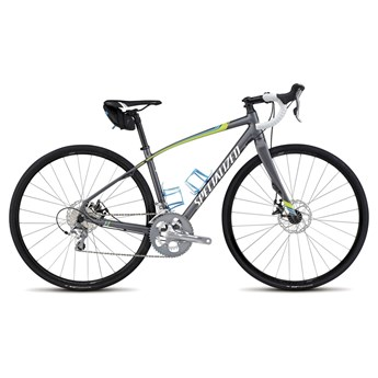 Specialized Dolce Elite Disc EQ Charcoal/Hyp Green/Cyan/White