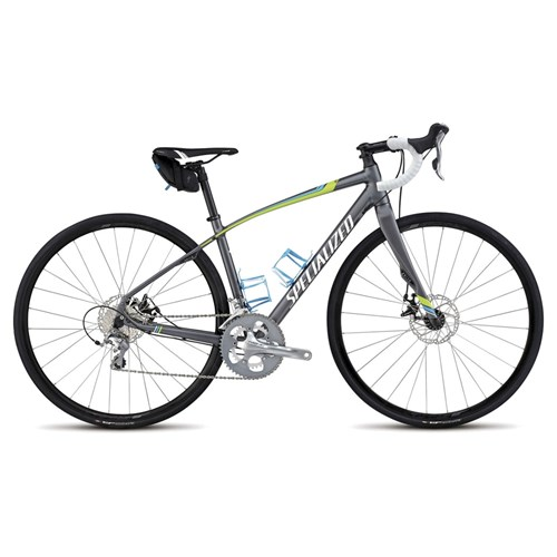 Specialized Dolce Elite Disc EQ Charcoal/Hyp Green/Cyan/White 2015