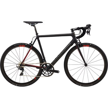 Cannondale SuperSix EVO Hi-Mod Dura-Ace 2 Jet Black With Anthracite and Race Red, Matte with Gloss