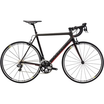 Cannondale SuperSix EVO Carbon Ultegra Di2 Anthracite with Jet Black and Race Red, Gloss