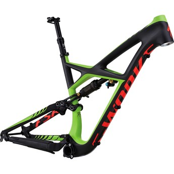Specialized S-Works Enduro 29 Frame Satin Charcoal Tint Carbon/Monster Green/Rocket Red