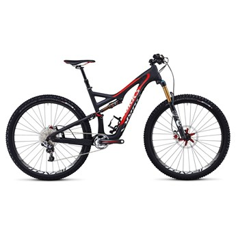 Specialized S-Works Stumpjumper FSR Carbon 29 Materialfärg/Röd/Vit