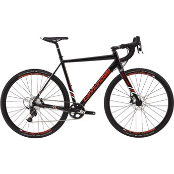 Cannondale CAADX Apex 1 Jet Black with Acid Red and Magnesium White, Gloss