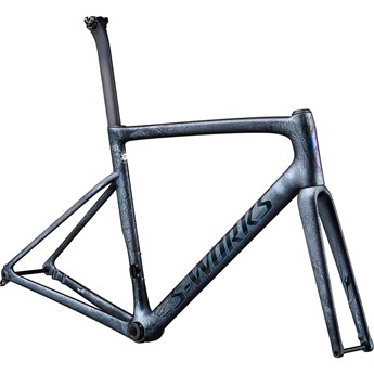 Specialized Tarmac SL6 S-Works Disc Frameset Satin Granite/Blue Green Foil