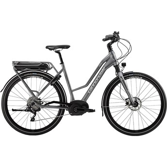 Cannondale Mavaro Performance 1 Womens Charcoal Gray with Blue Collar and Fine Silver, Gloss