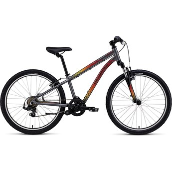 Specialized Hotrock 24 7 Speed Boys Charcoal/Red-Yellow Fade