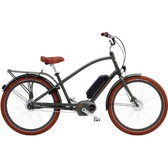 Electra Townie Go! 8i Step-Over Army Grey