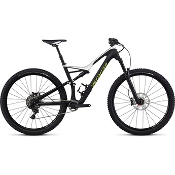 Specialized Stumpjumper FSR Comp Carbon 29 Satin Tarmac Black/Light Silver/Monster Green