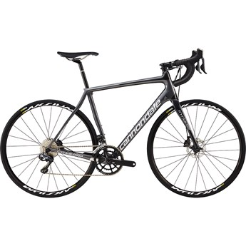 Cannondale Synapse Carbon Disc Ultegra Di2 Charcoal Gray with Fine Silver and Nearly Black, Gloss