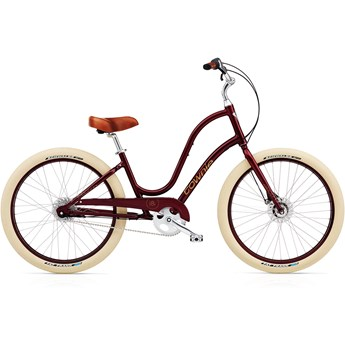 Electra Townie Balloon 8i Burgundy Ladies