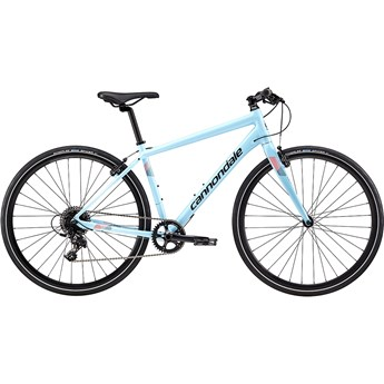 Cannondale Quick Womens 2 Atmosphere Blue with Jet Black, Acid Red, Reflective Detail, Gloss