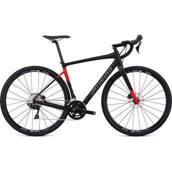 Specialized Diverge Men Sport Satin Tarmac Black/Flo Red