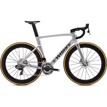Specialized Venge S-Works Disc Etap Gloss Metallic White Silver/Lite Silver Fade