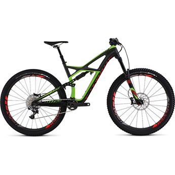 Specialized S-Works Enduro 29 Satin Charcoal Tint Carbon /Monster Green/Rocket Red
