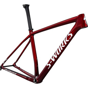 Specialized Epic HT S-Works Frame Gloss Red Tint Fade Over Brushed Silver/Tarmac Black/White W/Gold Pearl