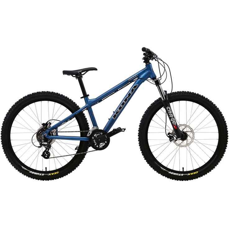 Kona Shred Matt Blue with Black and Silver