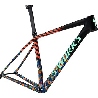 Specialized Epic HT S-Works Frame Gloss Carbon/Cobalt Marble/Brassy Yellow Marble/Vivid Coral/Oasis 2021