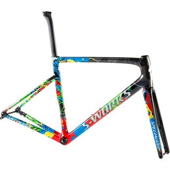 Specialized Tarmac SL6 S-Works Disc Frameset WC Gloss Carbon/Flo Red/White