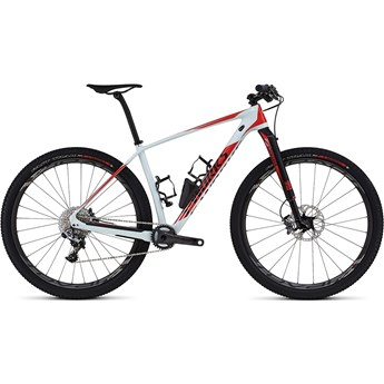 Specialized S-Works Stumpjumper Carbon World Cup 29 Satin/Gloss Baby Blue/Rocket Red/Black