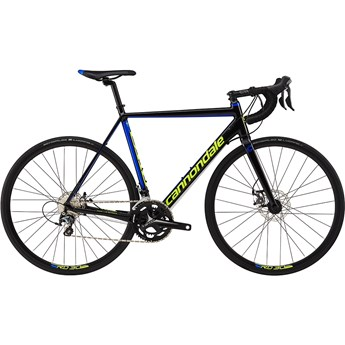 Cannondale CAAD Optimo Disc Tiagra Jet Black with Cerulean Blue and Volt, Gloss