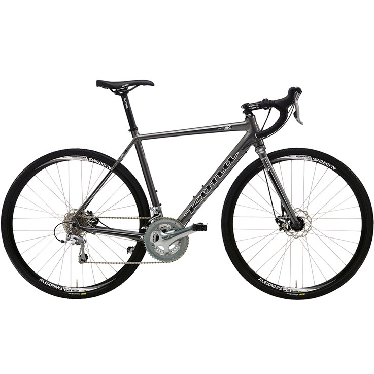 Kona Jake Metallic Dark Silver with Black and White