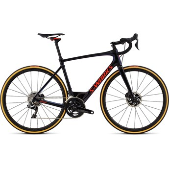 Specialized S-Works Roubaix Di2 Gloss Tarmac Black/Chameleon Edge Fade/Rocket Red Clean