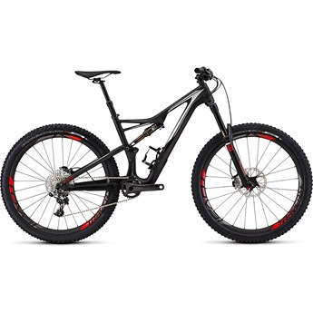 Specialized S-Works Stumpjumper FSR Carbon 650B Satin/Gloss Carbon/Dirty White/Rocket Red