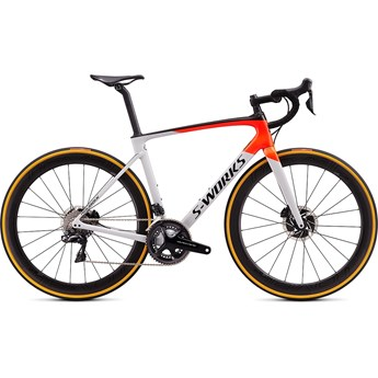 Specialized Roubaix S-Works Di2 Gloss Dove Gray/Rocket Red/Black