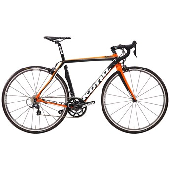 Kona Zone Two Matt Unidirectional Carbon with White, Orange and Black