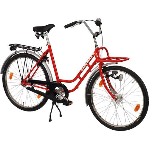 Monark Professional Damcykel, 0-vxl med främre pakethållare, röd