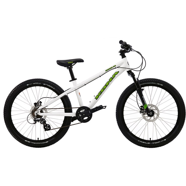 Kona Shred 24 Matt White with Green and Black