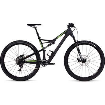 Specialized Camber FSR Comp Carbon 29 Satin Carbon/Monster Green/Rocket Red