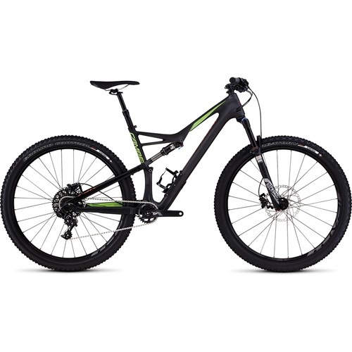 Specialized Camber FSR Comp Carbon 29 Satin Carbon/Monster Green/Rocket Red 2016
