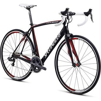 Specialized Roubaix Expert SL4 Shimano Ui2 Dubbel Kompakt Materialfärg/Vit/Röd