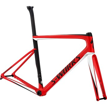 Specialized S-Works Tarmac Men SL6 Disc Frameset Gloss Flo Red/Metalic White Silver/Satin Black