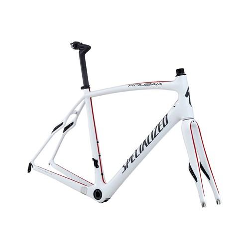 Specialized Roubaix SL4 Pro Bara Ram (Frameset) Pearlvit/Röd/Askgrå