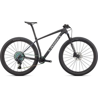 Specialized Epic Hardtail S-Works Satin Carbon/Color Run Blue Murano Pearl/Gloss Chrome Foil Logos 2022