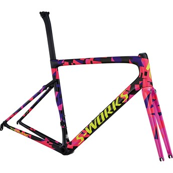 Specialized S-Works Tarmac Men SL6 Frameset Carbon/Purple Haze/Acid Pink/Gloss Rocket Red/Yellow 2018