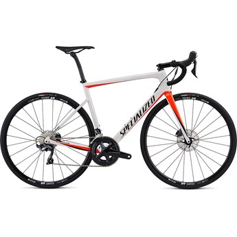 Specialized Tarmac Men SL6 Comp Disc Gloss Metalic White Silver/Rocket Red/Tarmac Black 2019