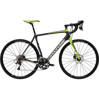 Cannondale Synapse Carbon Disc 105 Jet Black with Magnesium White and Berserker Green, Matte