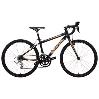 Kona Jake 2-4 Matt Black with Orange and White