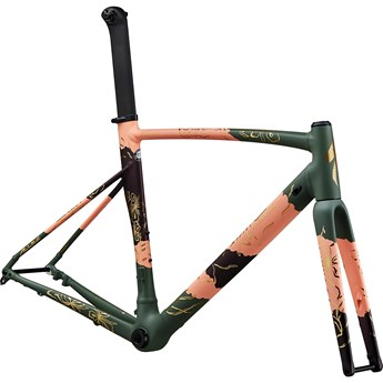 Specialized Allez Sprint Disc Frameset Satin/Gloss Powder Coral/Sage Green/Cast Berry