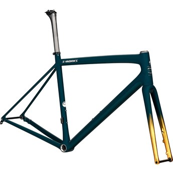 Specialized S-Works Aethos Frameset Gloss Forest Green/Gold Pearl/Flake Silver 2021