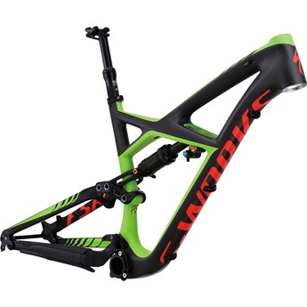 Specialized S-Works Enduro 650B Frame Satin Charcoal Tint Carbon/Monster Green/Rocket Red