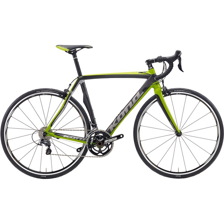 Kona Zone One Dark Silver/Dark Lime/Black On Matt Carbon