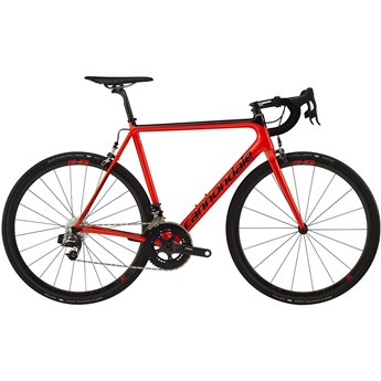 Cannondale SuperSix EVO Hi-Mod Red eTap Acid Red with Jet Black, Gloss