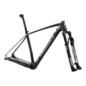 Specialized S-Works Stumpjumper Hardtail Carbon 29 Frameset (Rampaket) Carbon/White