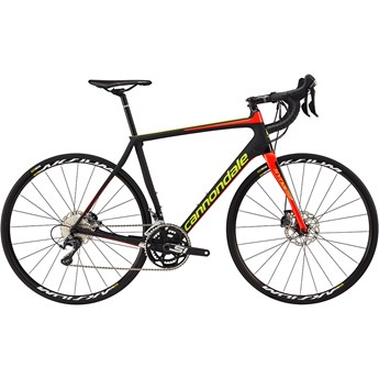 Cannondale Synapse Carbon Disc Ultegra Jet Black with Volt and Acid Red, Matte/Gloss