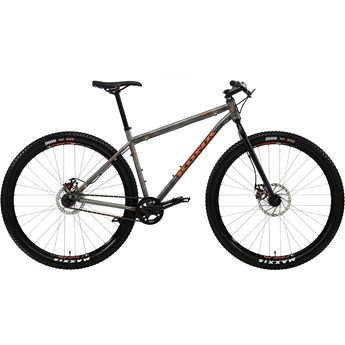 Kona Unit Matt Raw Steel with Orange and Black